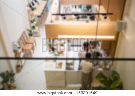 Defocused Background Of Indy Coffee Shop stock photo