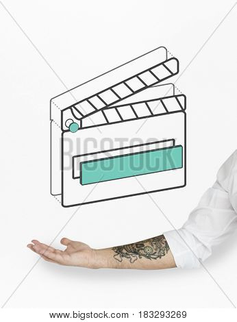 Movie Film Clapper Board Graphic