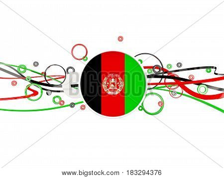 Flag Of Afghanistan, Circles Pattern With Lines