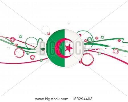 Flag Of Algeria, Circles Pattern With Lines