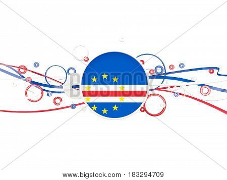 Flag Of Cape Verde, Circles Pattern With Lines