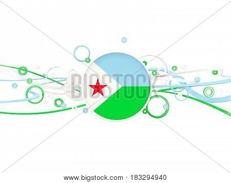 Flag Of Djibouti, Circles Pattern With Lines