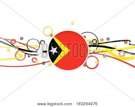 Flag Of East Timor, Circles Pattern With Lines