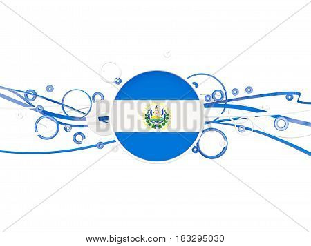 Flag Of El Salvador, Circles Pattern With Lines