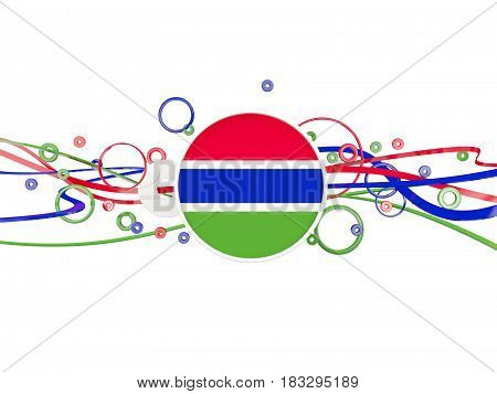 Flag Of Gambia, Circles Pattern With Lines