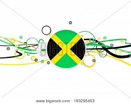 Flag Of Jamaica, Circles Pattern With Lines