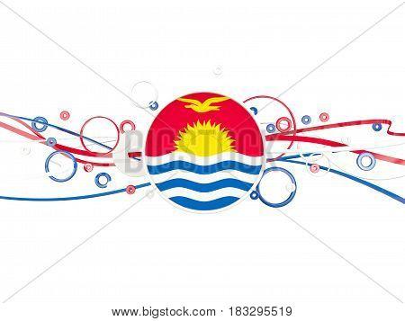 Flag Of Kiribati, Circles Pattern With Lines