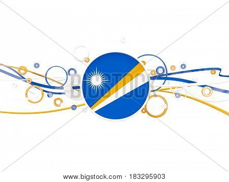 Flag Of Marshall Islands, Circles Pattern With Lines