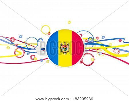 Flag Of Moldova, Circles Pattern With Lines