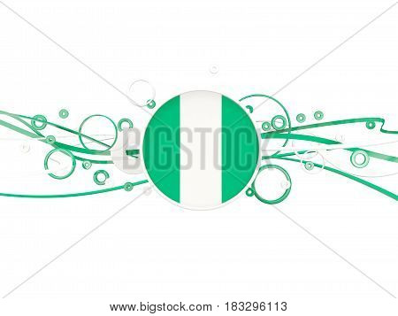 Flag Of Nigeria, Circles Pattern With Lines