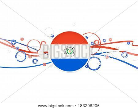 Flag Of Paraguay, Circles Pattern With Lines