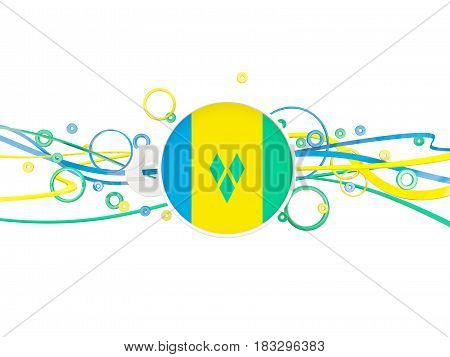 Flag Of Saint Vincent And The Grenadines, Circles Pattern With Lines