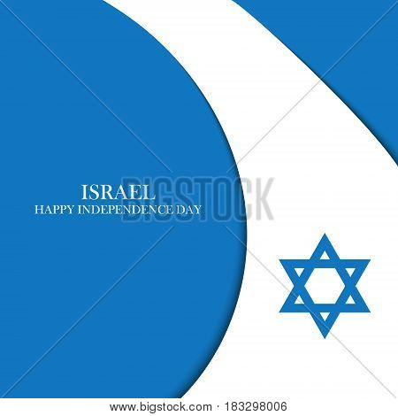 Israel Independence Day celebration card. Vector illustration.