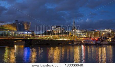 Stockholm, Sweden, Europe at night