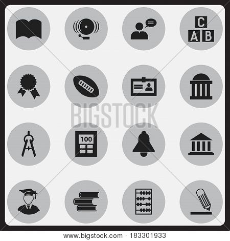 Set Of 16 Editable Science Icons. Includes Symbols Such As Thinking Man, Diplomaed Male, Arithmetic And More. Can Be Used For Web, Mobile, UI And Infographic Design.