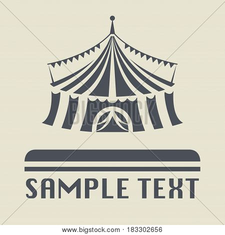 Circus tent icon or sign vector illustration