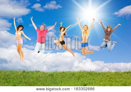 Happy Friends Having Fun