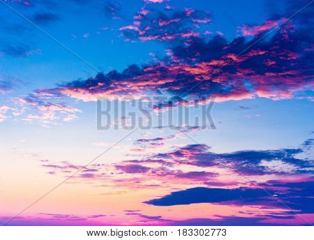 Sunset in the Sky Glowing