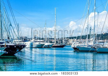 The port of Palma de Mallorca, Balearic Islands, Spain