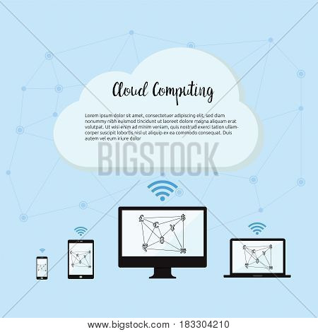 Cloud Computing technology concept apart of technology concept in the future for wireless communication network for IOT(Internet of Things) the infrastructure of the information society.