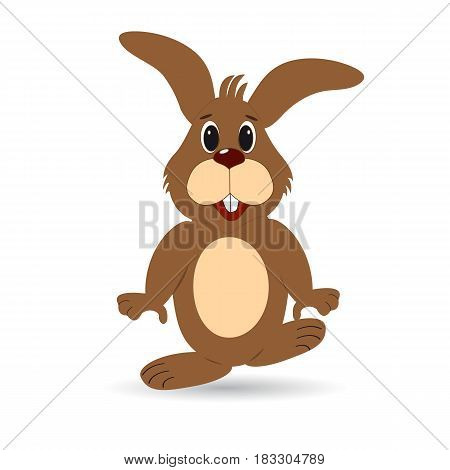 Funny easter bunny on a white background