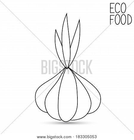 Icon of garlic on a white background