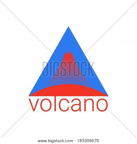 Geometric Triangle Logo In Bright Red And Blue