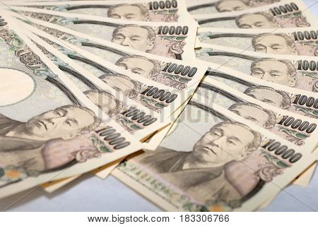 10000 Japanese Yen,  The Currency Bills. Japan Money.