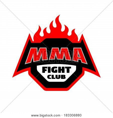 MMA fight club. Mixed martial arts logo.