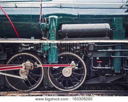 Steam Locomotive Wheel Engine Train Engine Vintage Transportation