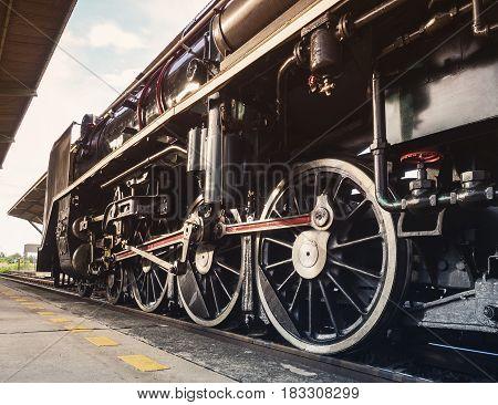 Steam Locomotive Wheel Engine Train Engine Retro Transportation