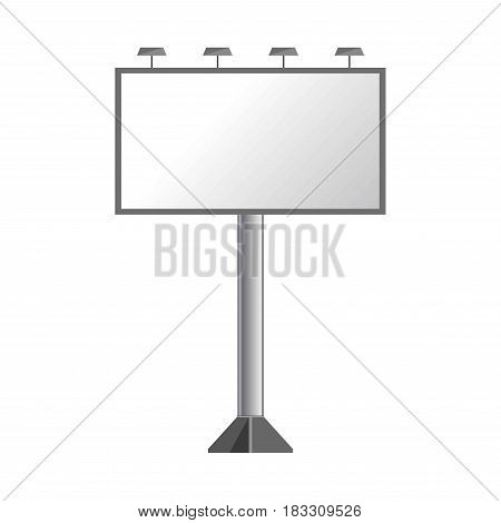Vector illustration of a clear billboard shield isolated on white.