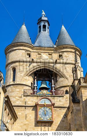 Grosse cloche, a medieval belfry in Bordeaux - France, Aquitaine