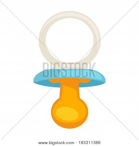 Vector illustration of small childish dummy on the white background.