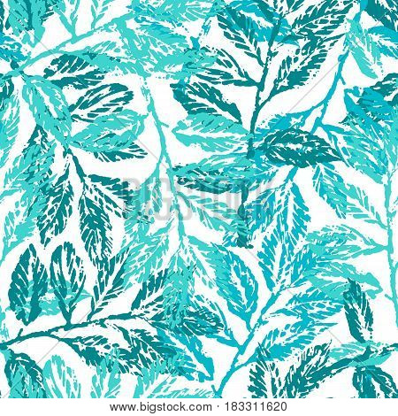 Seamless pattern with laurel branches. For textile wallpaper wrapping web backgrounds and other pattern fills