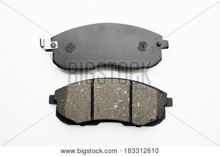 car brake pads, isolated on white
