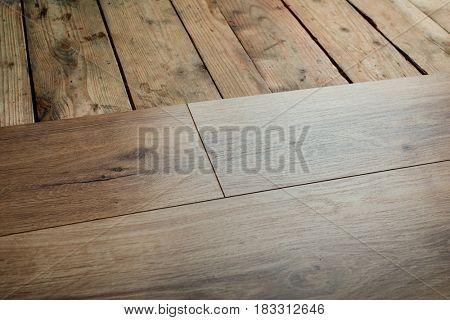 old floor renovation