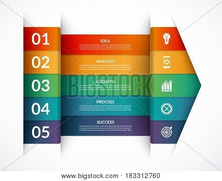 Infographic options banner. Vector template that can be used as a chart, graph, diagram, workflow layout