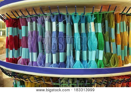 Rack with moulin thread in shop