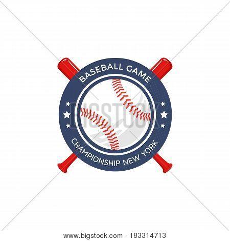 Baseball logo or emblem template. Vector illustration