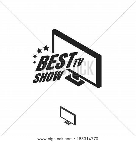 Best Tv show logo template design. Entertainment channel icon. Vector illustration