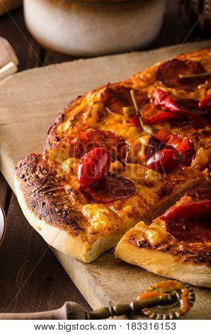 Pizza Salami Pepper