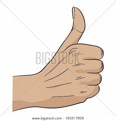 Good job hand gesture everything right success
