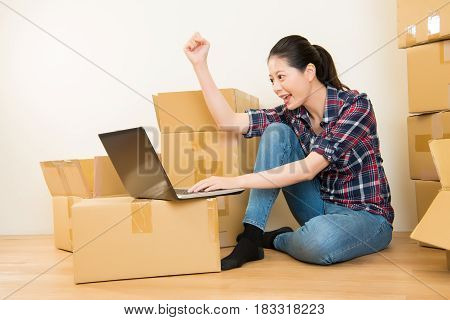 Woman Success Planning New Apartment