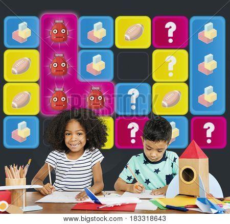 Robot Bricks Rugby Secret Question Matching