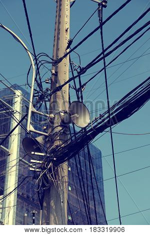Loudspeakers On Electric Post