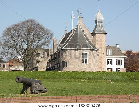 Coevorden. April-09-2017. Castle of Coevorden from 1100 in the fortified Coevorden. The Netherlands