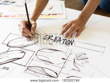 Creation ideas drawing development