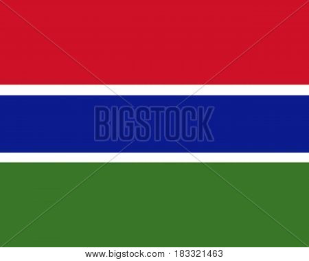 Colored Flag Of The Gambia