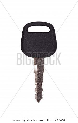 One key isolated on white background.(With clipping path.)